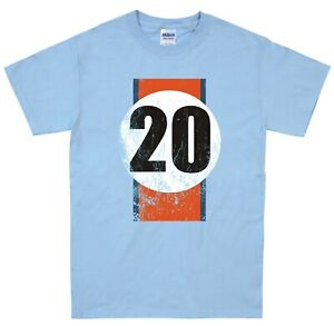 Steve McQueen Le mans Racing T Shirt Retro distressed design gulf