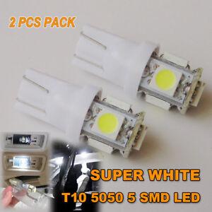 2 X T10 LED 5 5050 SMD LED PARKER LIGHTS/WEDGE LIGHTS -ULTRA BRIGHT WHITE-12V