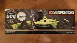 Simon Pagenaud #22 Menards 2019 Indianapolis 500 Winner 1:18 with Figure DieCast