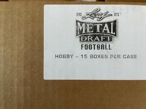 2021 Leaf Metal Football Factory Sealed 15 Box Hobby Case