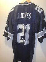 Beautiful Dallas Cowboys J. JONES NFL Players Reebok Jersey size M Blue #21