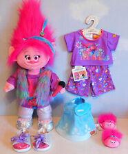 Build a Bear Trolls Poppy Plush - Fluffy, Dress, New Pj's, Girls Clothes, Shoes