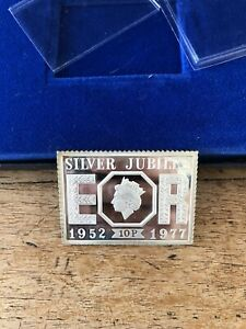 The Queens Silver Jubilee 10p Stamp Ingot 1952-1977
