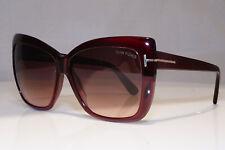 TOM FORD Womens Boxed Oversized Sunglasses Burgundy Irina TF 390 80B 23123