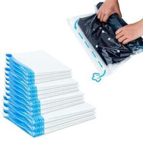 10er Pack Vakuumbeutel Reise Roll Aufbewahrungs Kleider Kompressions Beutel