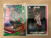2018 Panini ELITE Shai-Gilgeous Alexander Green Rookie RC Clippers+Studio RC Lot