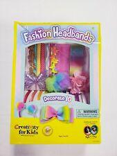 Creativity for Kids Fashion Headbands Kit 10 Unique Accessories New Damaged Box