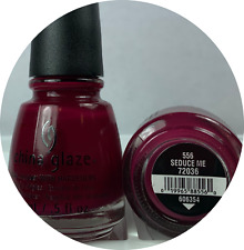 China Glaze Nail Polish * Seduce Me * 556 #72036 True Deep Red Lacquer