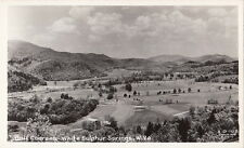 Postcard RPPC Golf Courses White Sulphur Springs West Virginia W VA