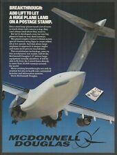 MCDONNEL DOUGLAS C-17 - Heavy Military Transport Aircraft -1973 Vintage Print Ad
