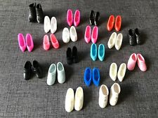 Huge Lot Of 20 Barbie Small Doll Shoes, Boots, Heels Multi Colors