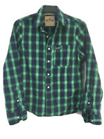 Hollister Mens Plaid Cotton Long Sleeve Shirt S(D150)