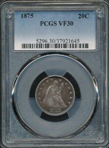 1875 Twenty Cent 20-Cent Piece PCGS VF 30 *Low Mintage Of 38,500!*
