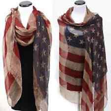 "Large American Flag lady woman women Scarf Body wrap 75"" x 42"""