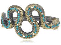 Gothic Brass Snake Shape Bangle Bracelet Halloween Party Costume Cuff Jewelry