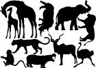 African Animals / Safari Vinyl Decal Stickers Mixed Size Wall Art Bedroom Deco
