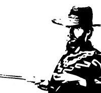 HAND PAINTED - Clint Eastwood - Fist full of dollars film pop art - Not a print.