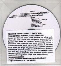 (CH848) Tomson & Benedict ft Bantu Soul, Blind - 2011 DJ CD