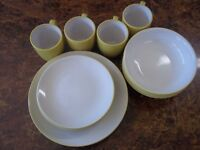16 Piece Dinnerware Set - 8 Plates 4 Bowls and 4 Cups