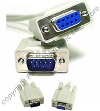 Lot10 10ft long DB9pin Male-Female Null Modem Cross/Nul wired,Serial RS232 Cable