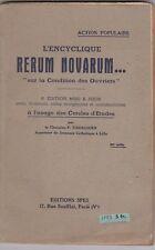 """L'encyclique RERUM NOVARUM -""""sur la condition des ouvriers"""""""