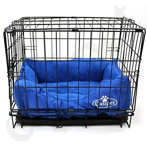 Dog Cage with Bed Training Metal Crate Puppy Pet Cat Carrier XS S M L XL XXL