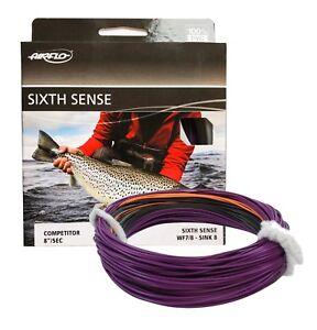 Airflo Sixth Sense Sinking Competitor Fly Fishing Line Sink Di8 Purple/Black