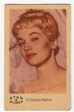 1960s Swedish Film Star Card Bilder A #5 Swiss Actress Liselotte Lilo Pulver