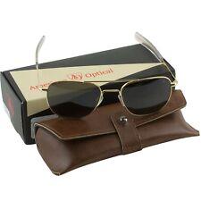 AO American Optical Military Aviator Gold Frames 55 mm Sunglasses Gray Lens