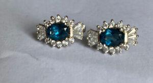 Apples & Figs Blue Grace Studs Earrings Classic