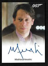 "James Bond Archives Final Edition Autograph Mathieu Amalric Dominic ""Limited"""