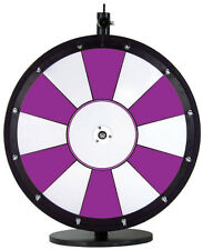 """24"""" Purple and White Promotional Dry Erase Spinning Prize Wheel"""