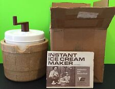 VINTAGE EAGLE INSTANT ICE CREAM MAKER NO ICE NEEDED COMPLETE Collectible