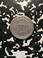 U/D Germany Ohrdruf 10 Pf. P.O.W. Camp Notgeld Token (1 Coin Only)