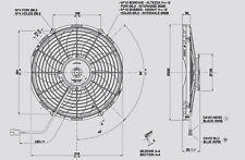 Spal Lüfter Hochleistungslüfter 336mm 2270 cbm h saugend VA10-AP50/C-61A