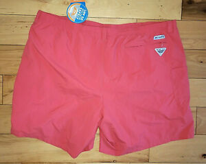 "Mens Columbia PFG Pink Swimming Trunks Shorts Lined New Size 4X 48"" x 8"" NWT"