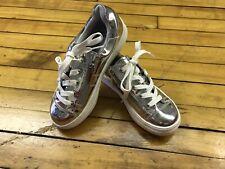 Nwot Girls Kidpik Silver Tennis Shoes Size 3