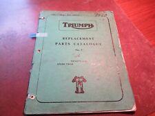 Triumph 1960 500 3TA 5TA T100A Tiger Speed Twin #3 Parts Catalog List Manual 294