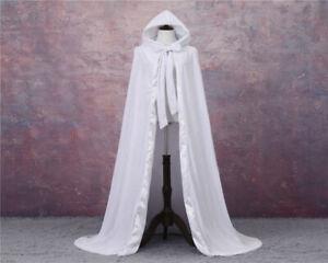 Hooded Velvet Halloween Cloak Cape Wizard Vampire Witch Wedding Gothic Medieval1