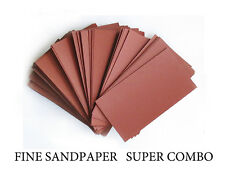 """SANDPAPER Wet or Dry 25 sheets 3""""x5 1/2"""" COMBO 1000/1200/1500/2000/2500  Grit"""