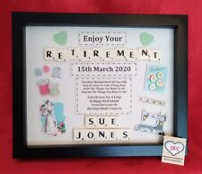 RETIREMENT GIFT FRAME Personalised Picture Keepsake FINISHING WORK Plaque