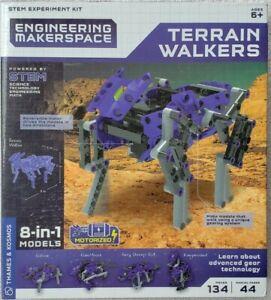 Terrain Walkers STEM Experiment Robots 8 n 1 Motorized Thames Kosmos Science Kit