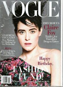 Vogue Magazine - November 2018 - The Crown's Claire Foy, Chrissy Tiegen - Sealed