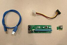 PCI-E Riser Express Cable 16X to 1X Molex 4 Pin power for Crypto Mining