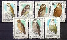 MAGYAR POSTA HONGARIJE # 3877-82 # MNH uilen owls chouettes Eulen [148]