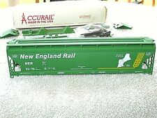 HO ACCURAIL NEW ENGLAND RAIL NER 50 YRS. ACF COVERED GREEN HOPPER 65550 GRAIN CR