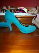 Faith green teal court shoes work, party wedding heels Size 40