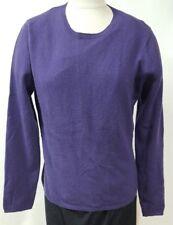 Fiona Purple Sweater Size XL 100% Cashmere Crewneck Light Weight Eggplant