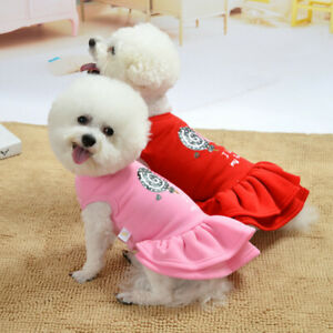 Cute Pet Princess Dress Dog Lollipop Teddy Skirt Puppy Dog Accessory Size XS-XL