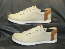 Chaco women's khaki canvas w/tan leather comfort casual oxford shoes size US 10